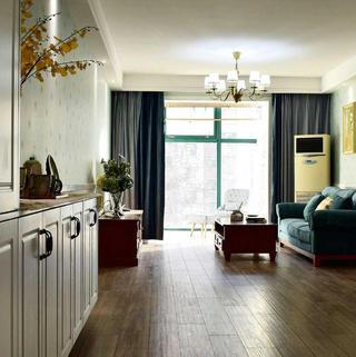 美式风格二居装修设计图