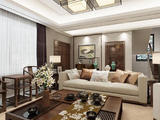 大户型新中式装修沙发图片
