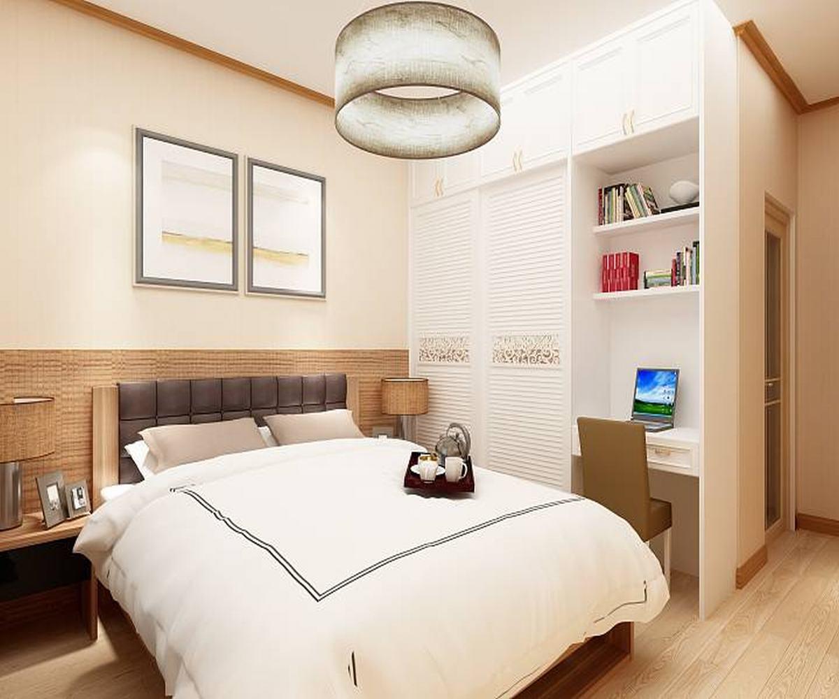 100㎡三居室设计卧室效果图