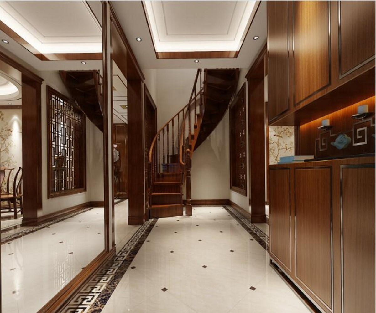 新中式四居装修门厅设计