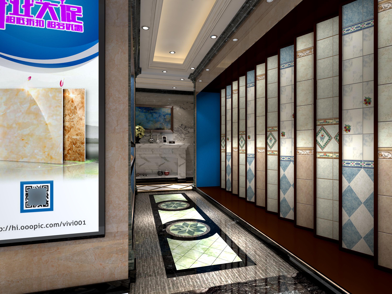 大理石展厅装修展厅走廊