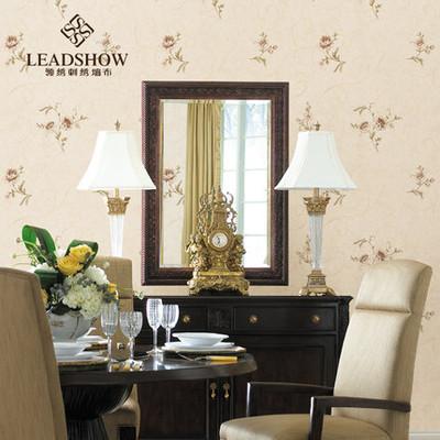 领绣刺绣墙布温馨田园墙布定制卧室客厅背景墙满铺墙布韵味