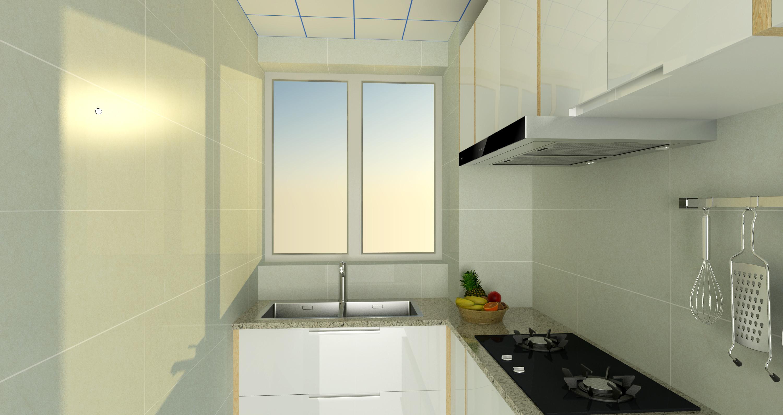 70平二居室装修厨房效果图