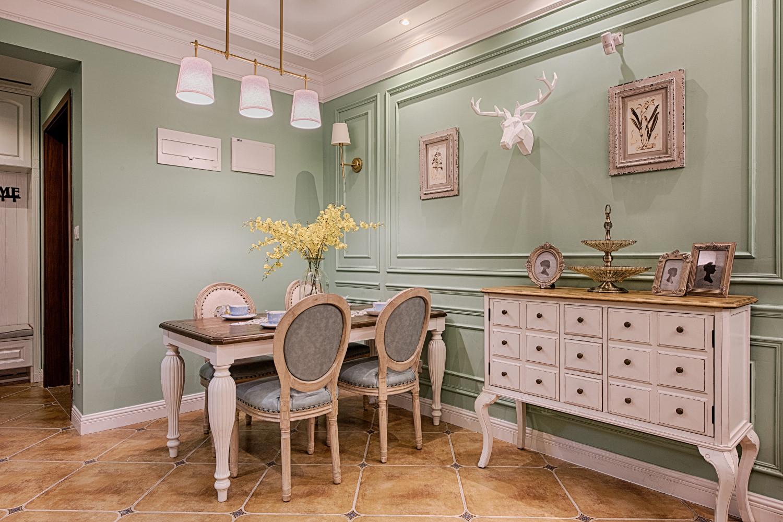 三居室美式风格家餐厅效果图