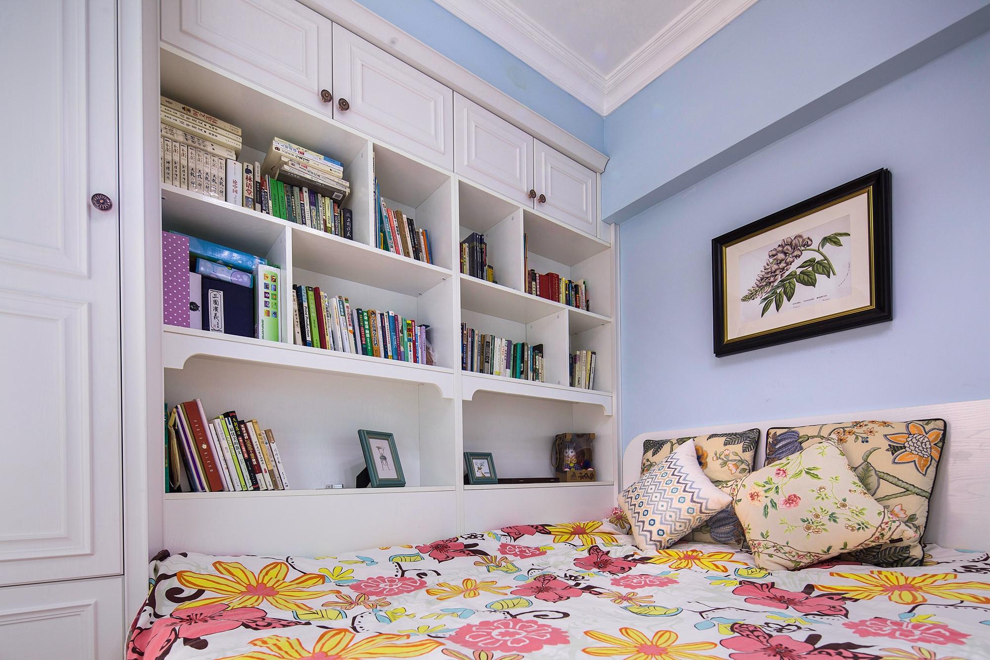美式三居装修书架图片