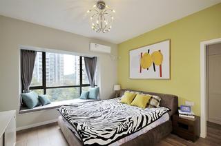 110㎡现代简约家卧室效果图