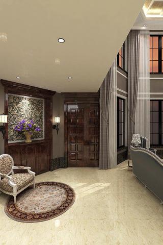 现代欧式别墅装修门厅效果图