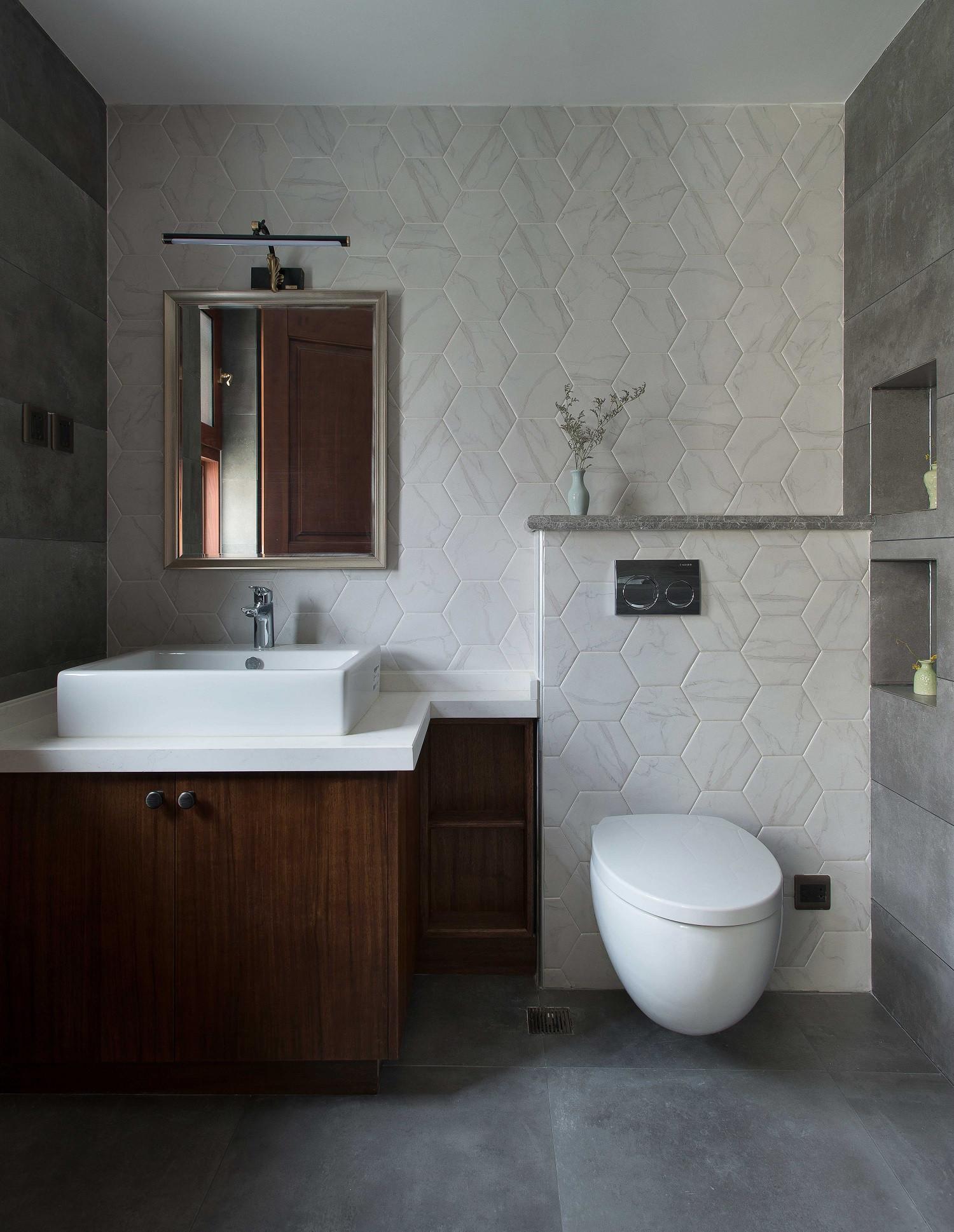 大户型中式装修卫生间装潢图