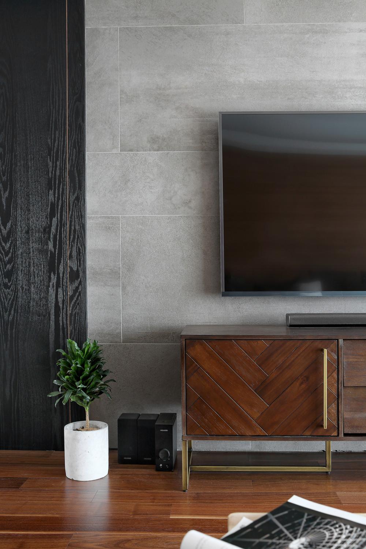 160平北欧风装修电视背景墙图片