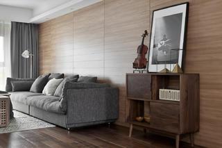 160平北欧风装修沙发背景墙图片