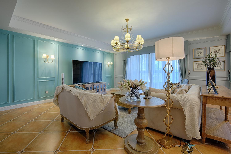 75平美式装修客厅效果图