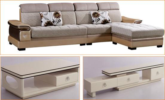 MP59沙发+CT-A15茶几+CT-A15电视柜
