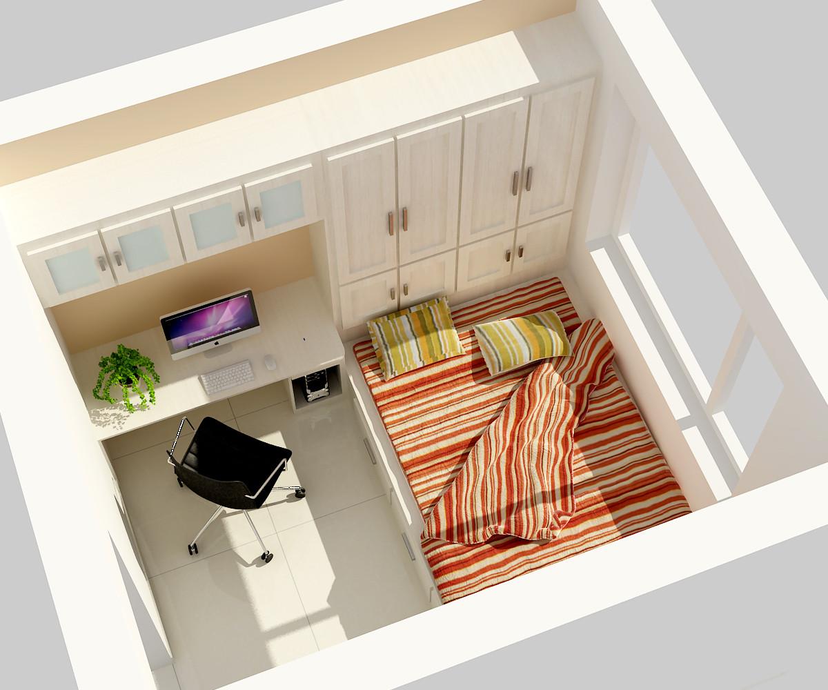 130平混搭风装修卧室效果图