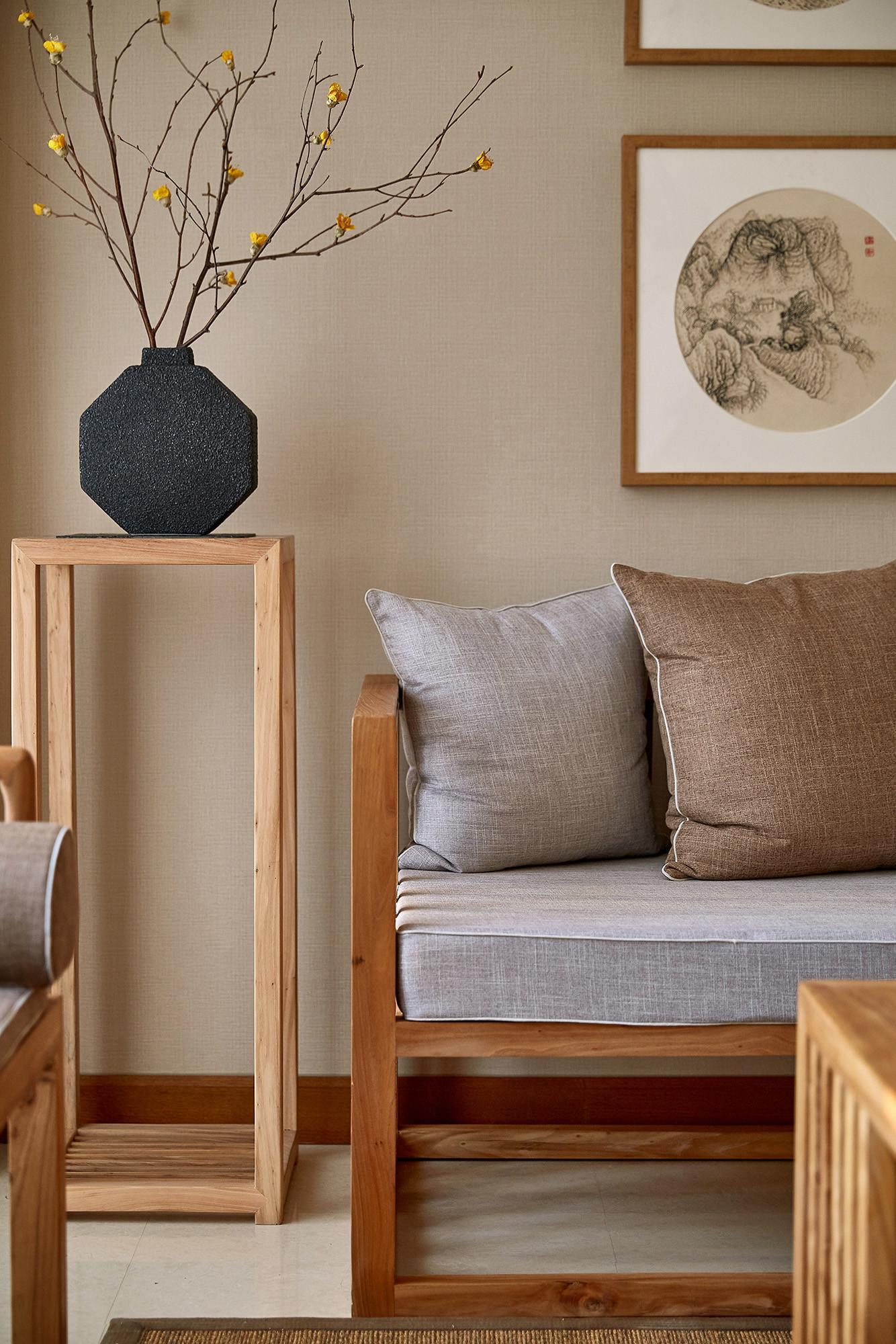 150㎡中式装修沙发一隅