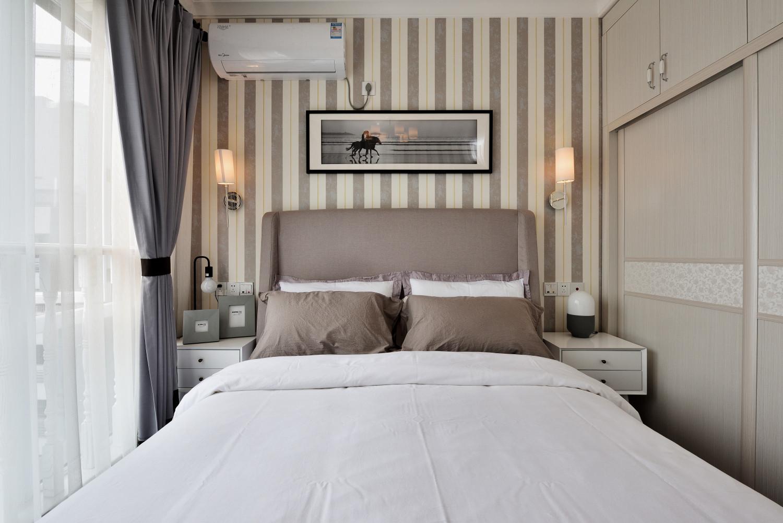 摩登现代风装修床头背景墙图片