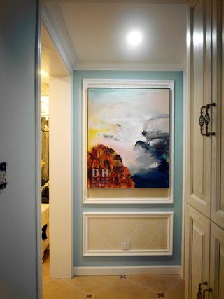 130平美式风格装修玄关装饰画
