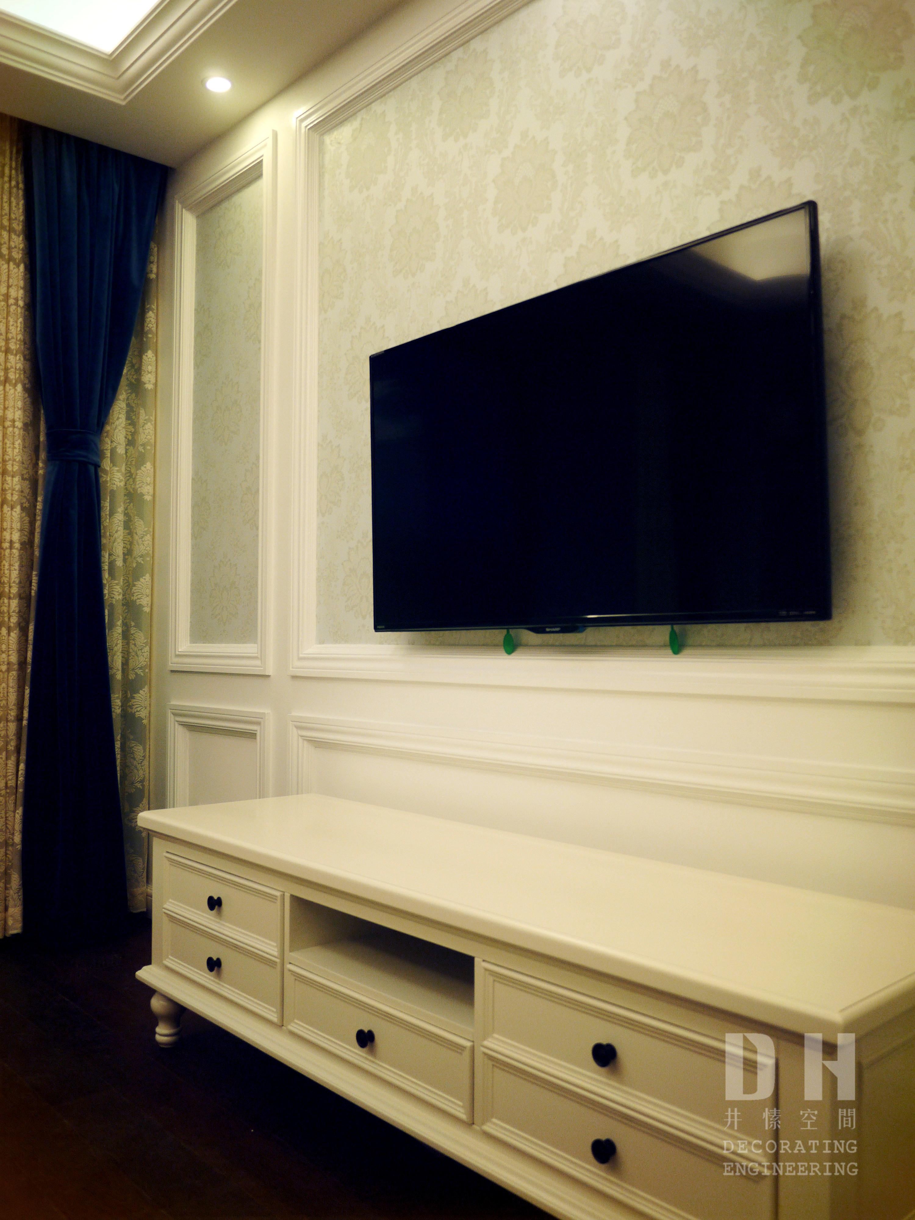 130平美式风格装修电视柜图片