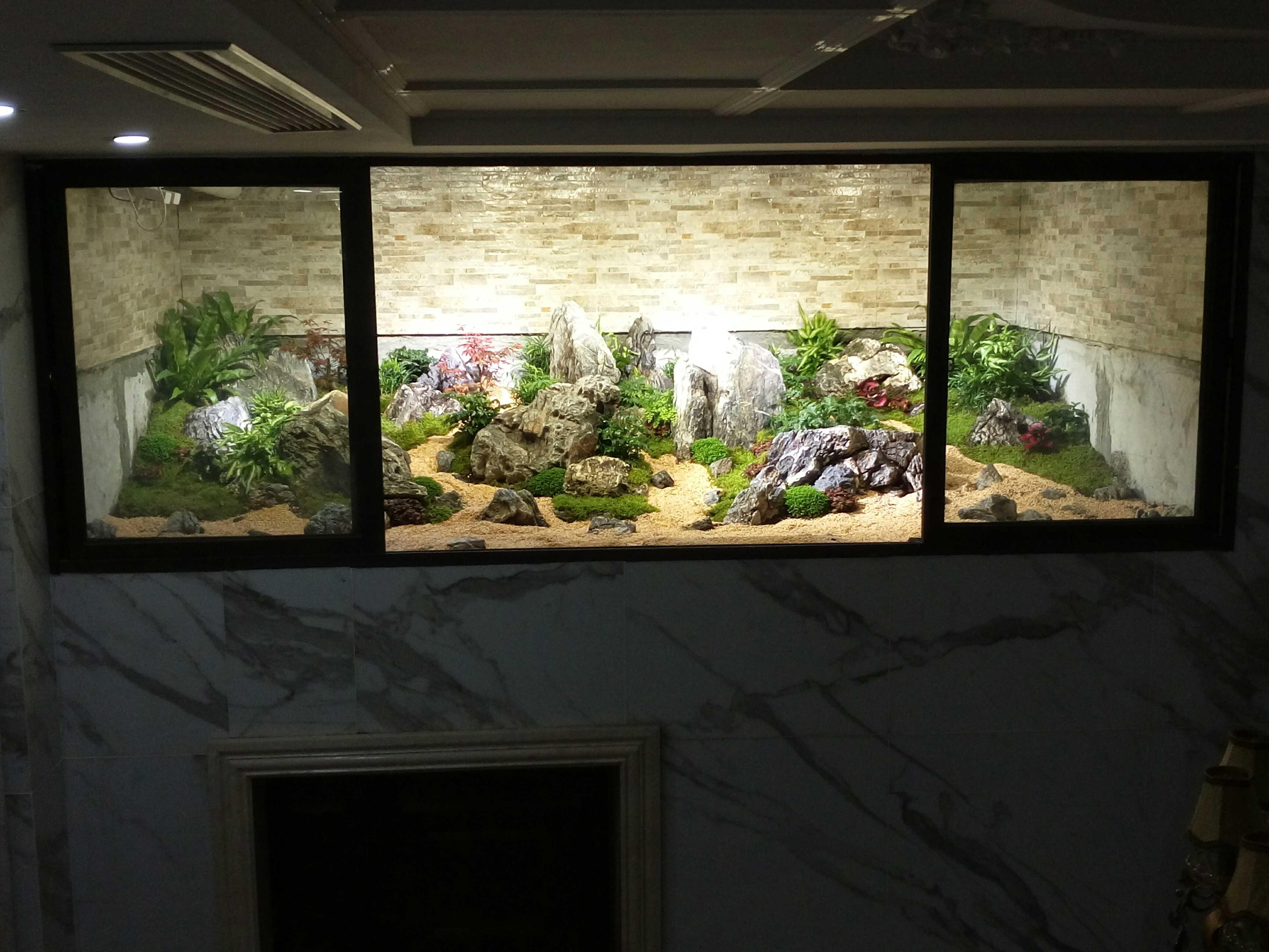 欧式风格别墅装修地下室通风口景观设计