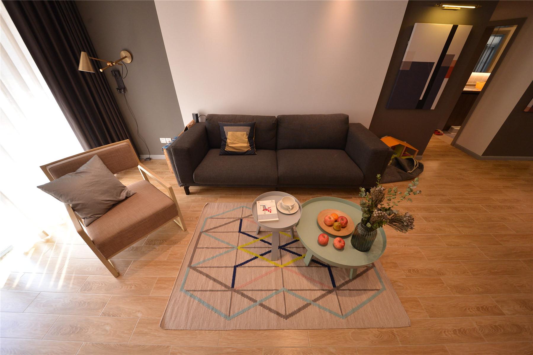 110㎡北欧风格装修沙发背景墙图片