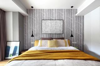 89平现代北欧风装修床头背景墙图片