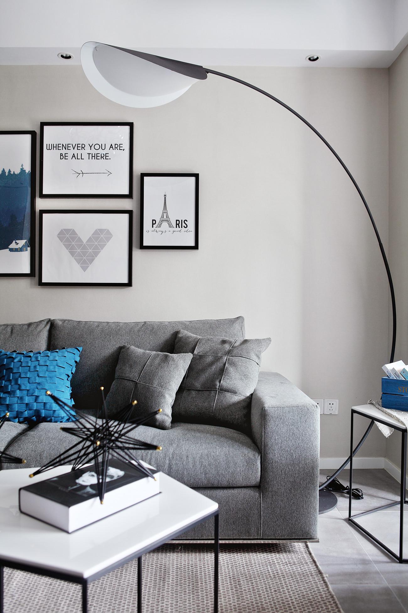 89平现代北欧风装修沙发图片
