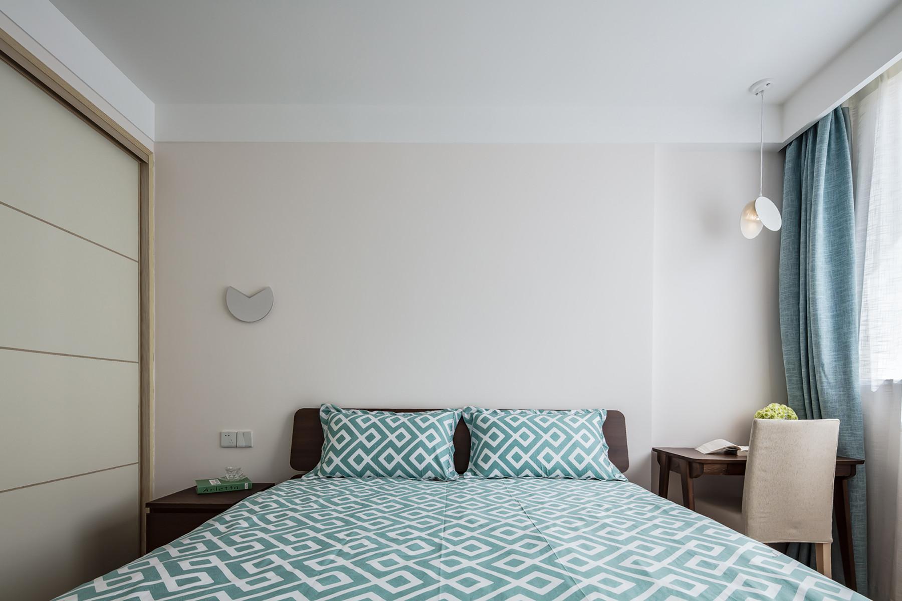 80平北欧之家床头背景墙图片