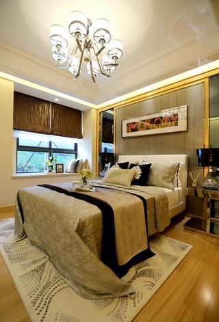 现代二居之家床头背景墙图片