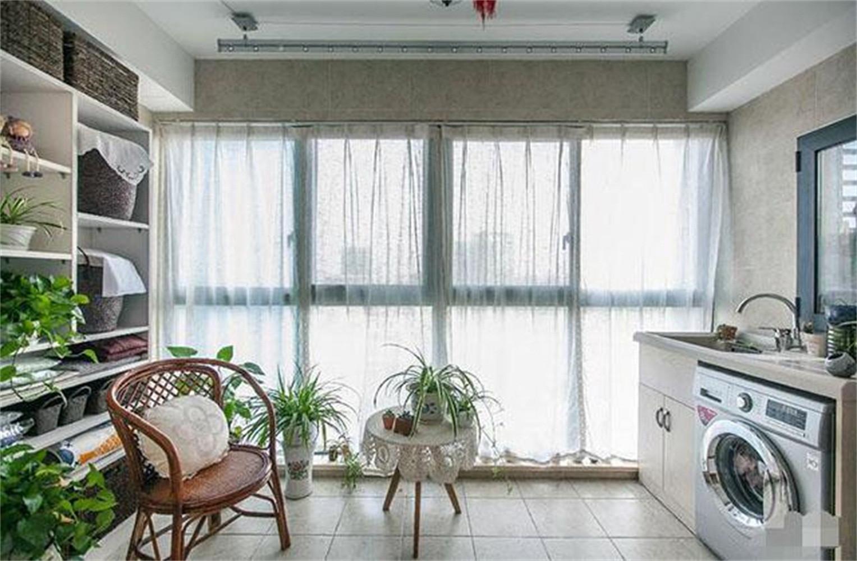 120㎡美式三居装修阳台欣赏图