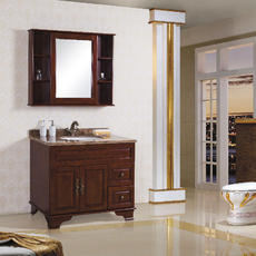 贝克玛卫浴 实木浴室柜 BKM-1608-96