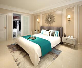 大户型美式混搭装修卧室效果图
