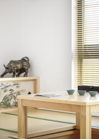 现代中式复式装修茶台图片