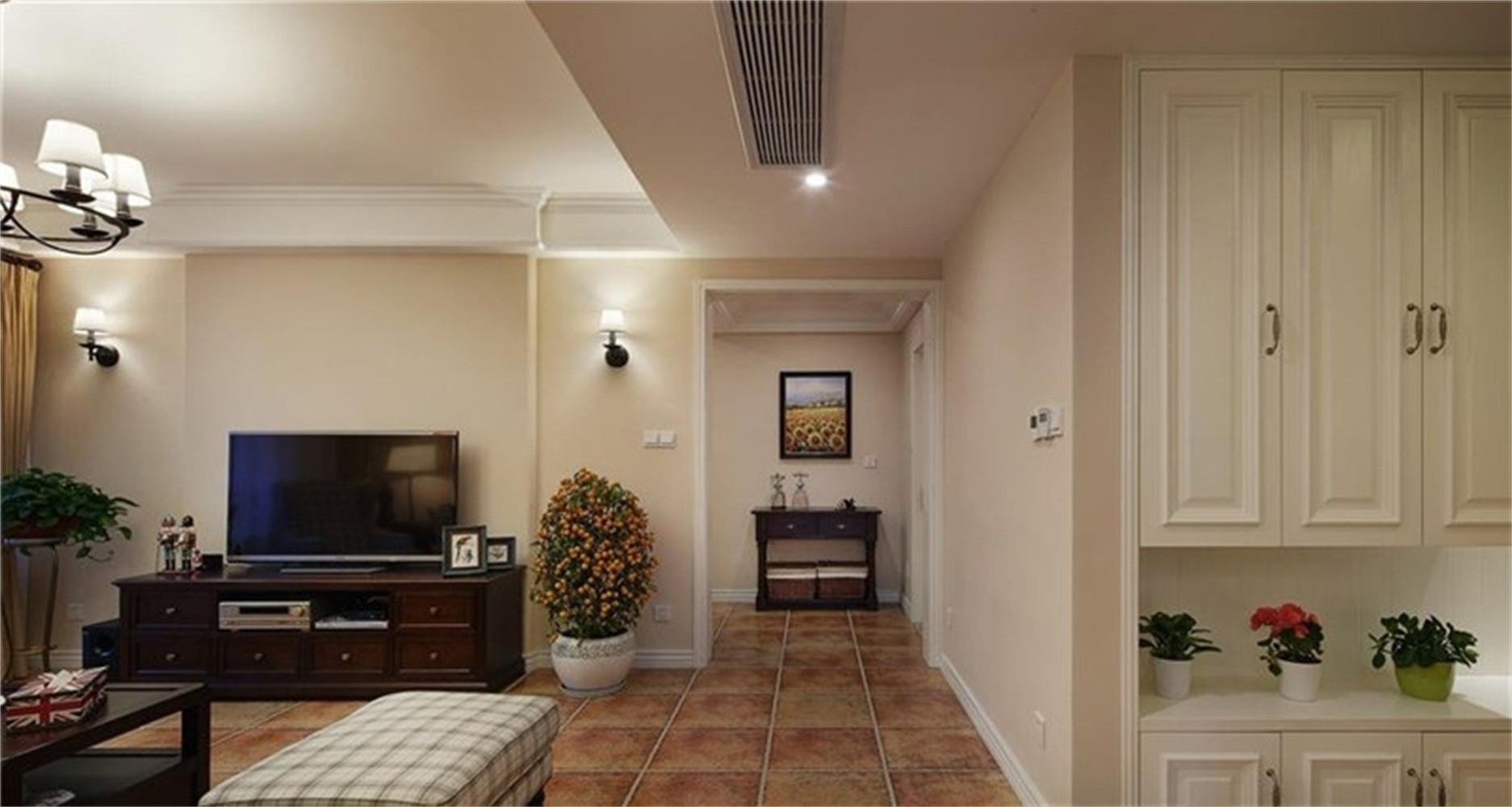 100㎡经典美式装修走廊图片
