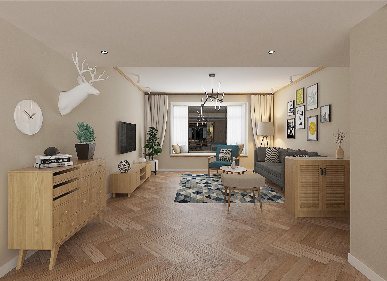 130平北欧装修客厅效果图