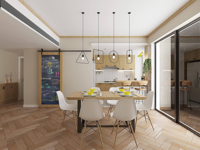 130平北欧装修餐厅吊灯设计