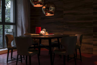现代别墅装修餐厅设计图