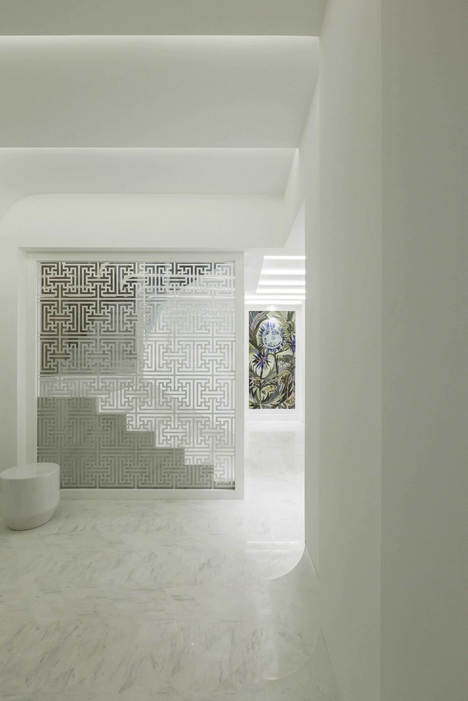 现代别墅装修门厅设计图