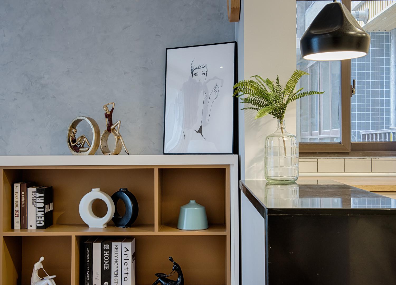 单身白领的北欧家书柜图片