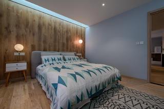 单身白领的北欧家床头背景墙图片