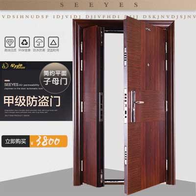 星月神防盗门B201T子母门 进户门 甲级门