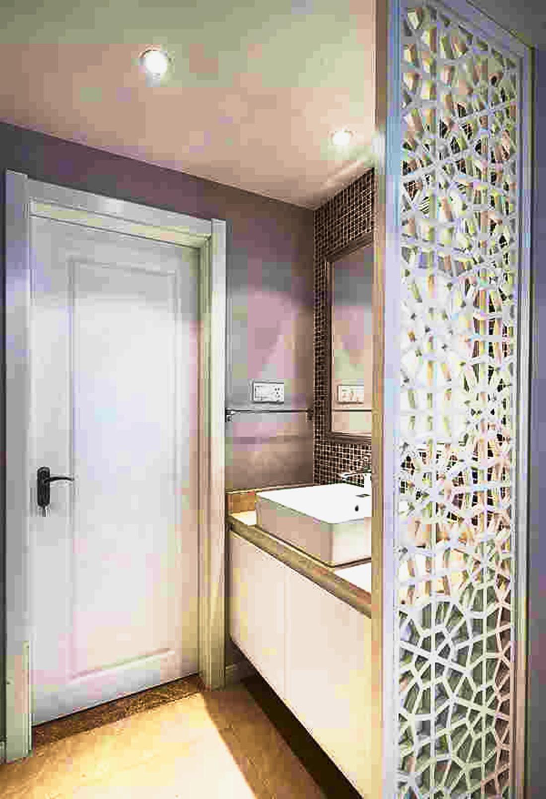 120平简约风格家装修洗手台图片