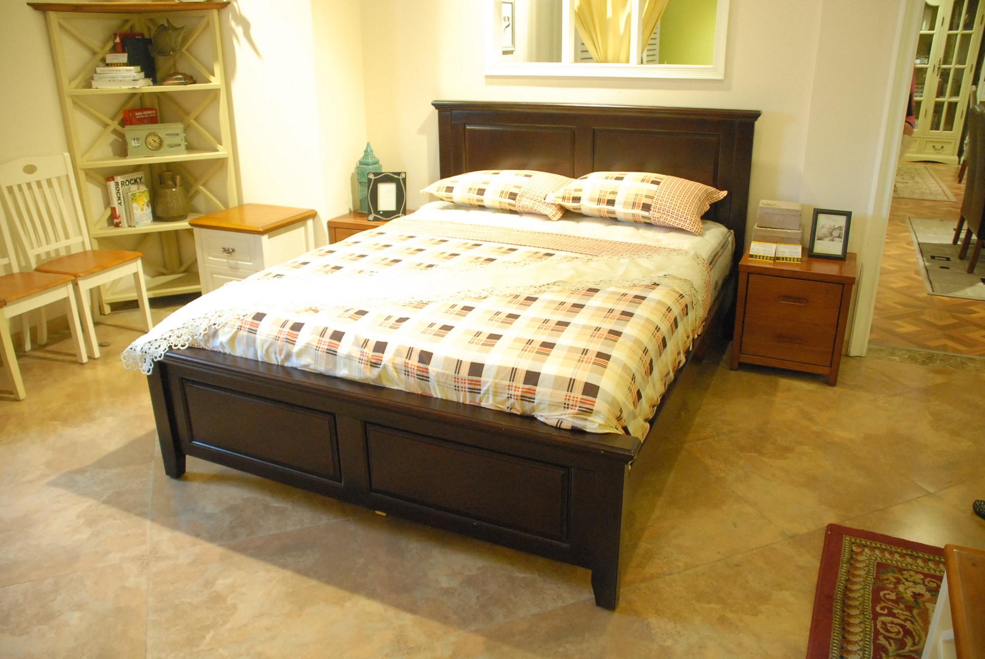 MW1601胡桃木床