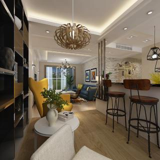 130平三居之家吧台设计