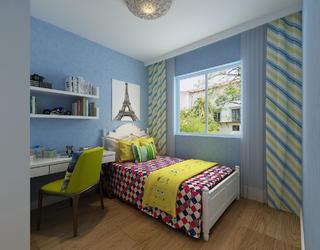 130平三居之家儿童房设计图