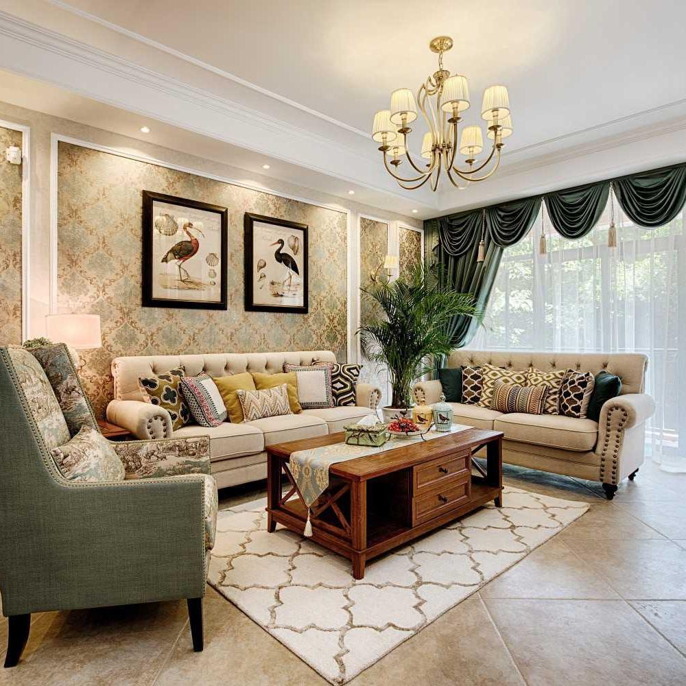 美式三居装修设计 华丽舒适