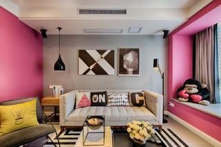混搭二居室之家沙发背景墙图片