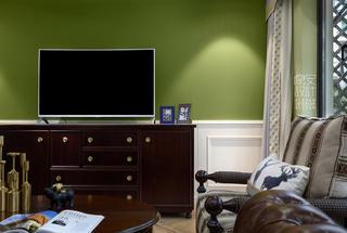 简美复式装修电视背景墙图片