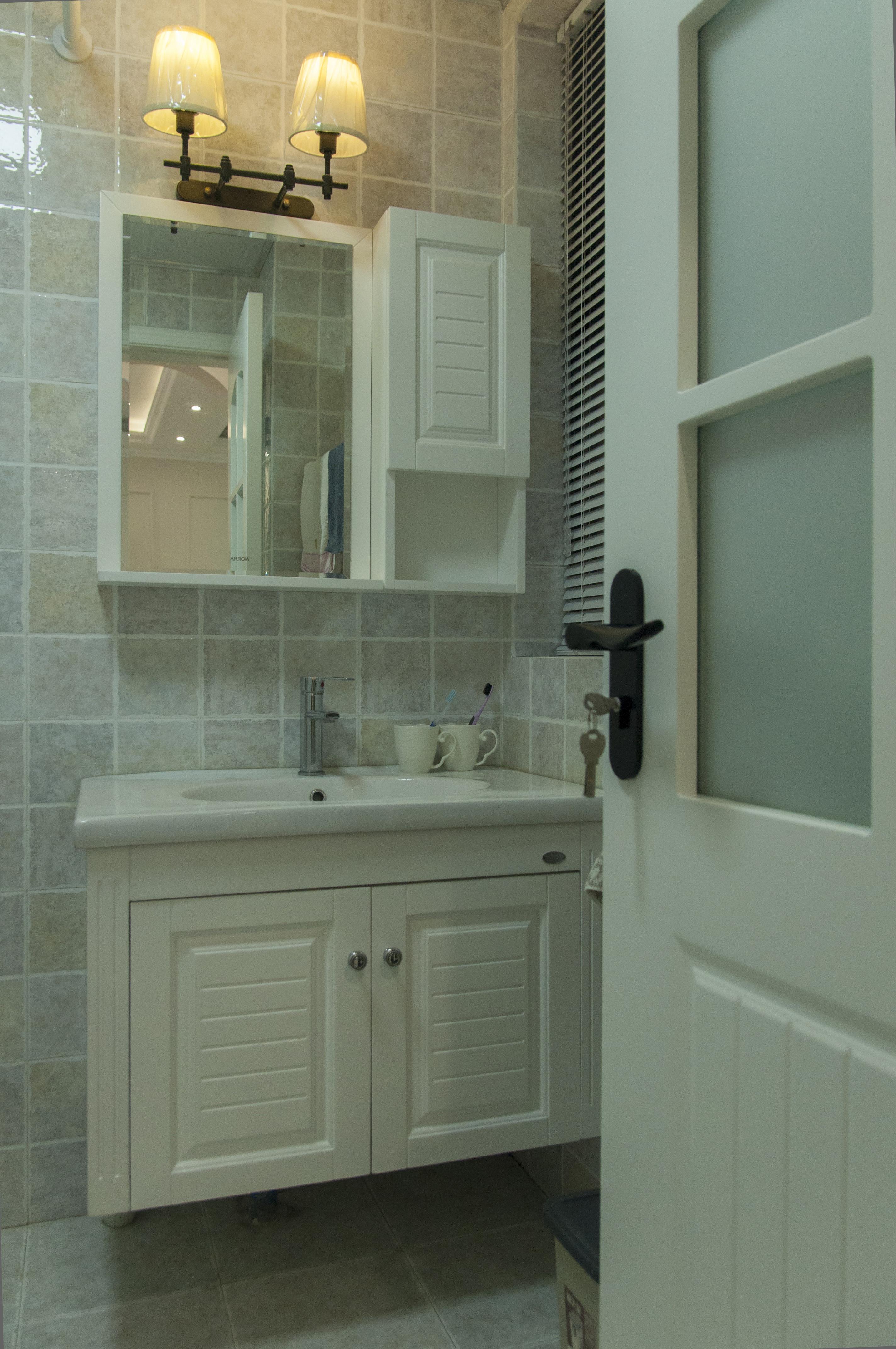 美式二居装修洗手台图片