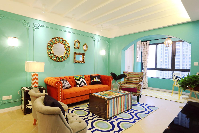 80平三居室设计客厅效果图
