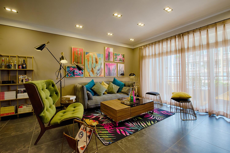 混搭三居装修沙发墙图片