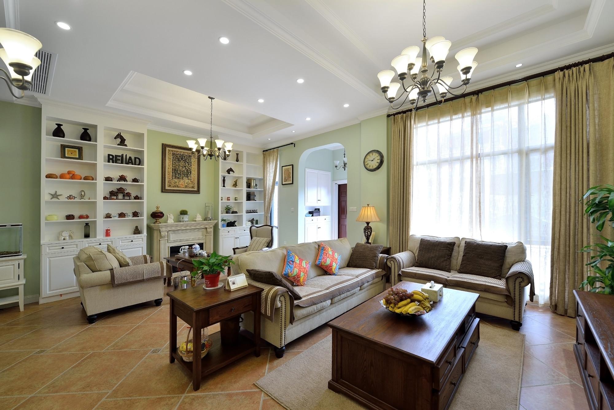 简美复式装修客厅效果图